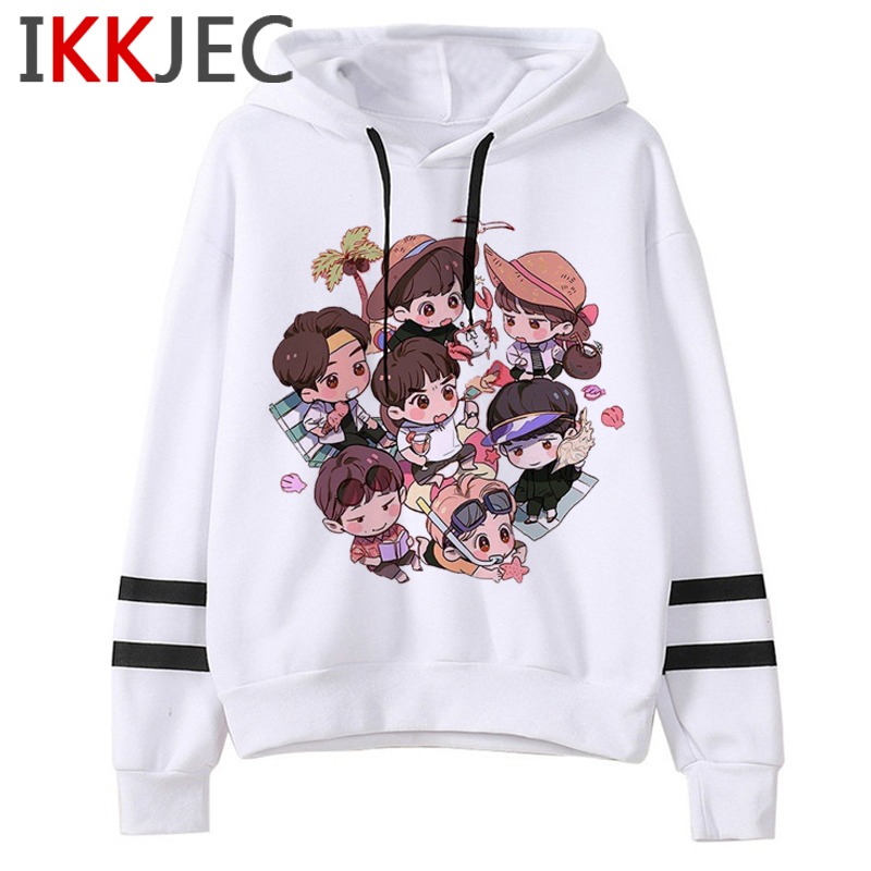 Bangtan Boys Harajuku Kawaii Hoodies Women Ullzang V Jin Jimin Jungkook J-hope Suga RM Cute Sweatshirts Hope World Hoody Female