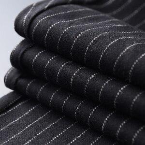 Image 4 - Minglu wełna mieszanie męskie spodnie luksusowy haft cekinowy Casual Sport Stripe spodnie męskie Plus rozmiar 4xl w pasie męskie spodnie