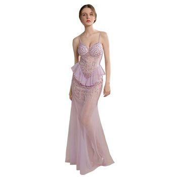 2020 FENTEFEN Plus Size Evening Party Dresses Mermaid Sequins robe de soiree vestidos de fiesta de noche Sexy Dress BX-0079