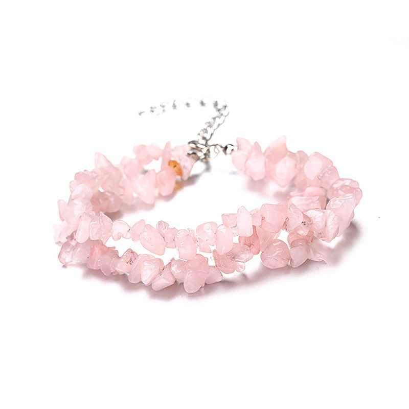 Naturale Ghiaia Di Cristallo Fatti A Mano di Perline FAI DA TE Braccialetto di Perline Pietra Naturale Chip Beads Irregolare Per Gli Accessori Dei Monili