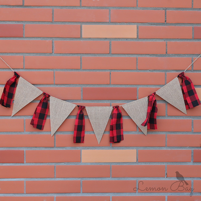 Birthday Banner Boy Girl Dining Chair Pull Flag Triangle Flag Hanging Ornaments Triangle Birthday Pull Flower Wall Decoration