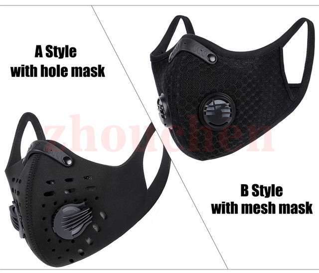 Sport Face Mask With Filter Activated Carbon PM 2.5 Anti-Pollution Running Training MTB Road Bike Cycling  1