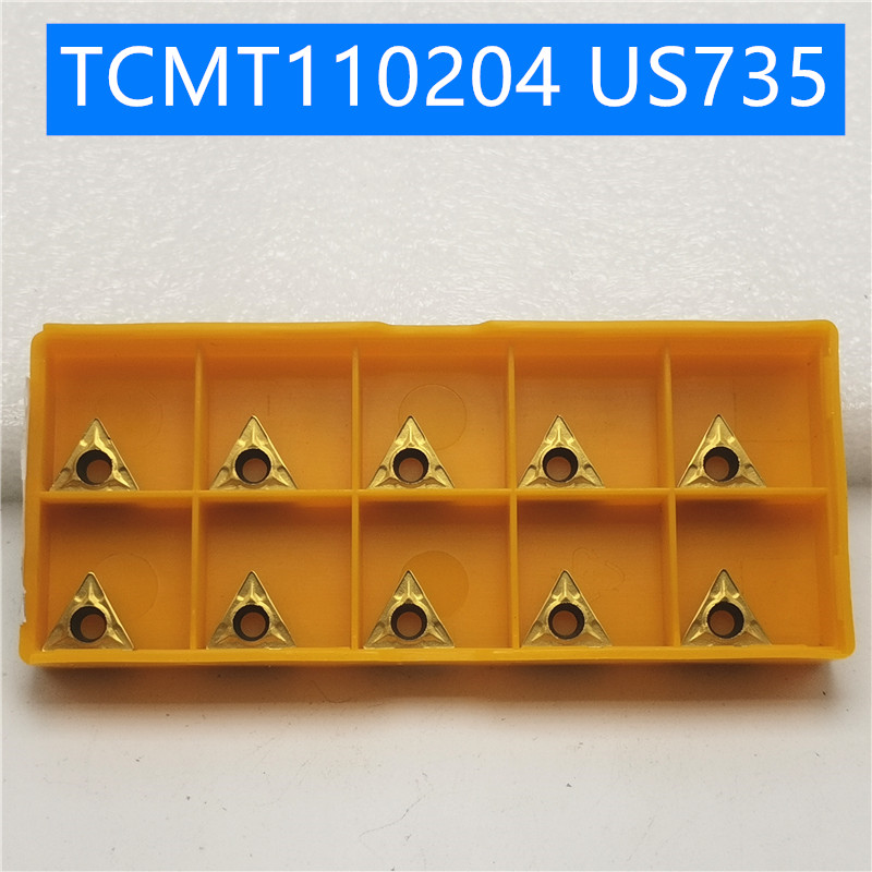 10PCS TCMT110204 US735 Internal Turning Tools Carbide inserts Cutting Tool CNC Tools Lathe tools Lathe cutter <font><b>TCMT</b></font> <font><b>110204</b></font> image