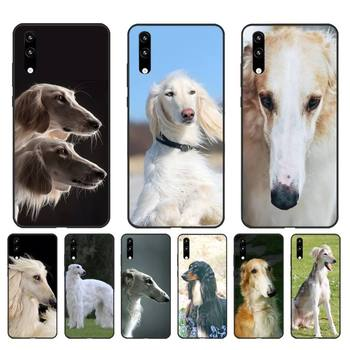 FHNBLJ Russian wolfhound BORZOI Soft Phone Cover for Huawei Honor8X 8A 9 10 20 Lite 10i 20i 7A 7C P20 30 40 Lite image