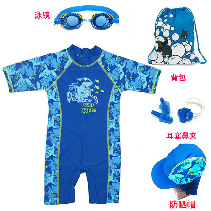 KID'S Swimwear BOY'S One-piece Swimsuit Teenager Middle And Large Small CHILDREN'S Set Baby Quick-Dry Tour Bathing Suit Boy