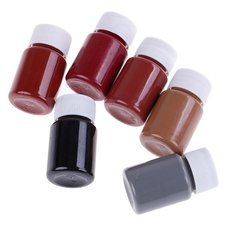 20ML Colors Leather Paint Set DIY Leather Edge Paint Edge Oil Dye Highlights Professional Watercolor Paint Liquid Art Supplies