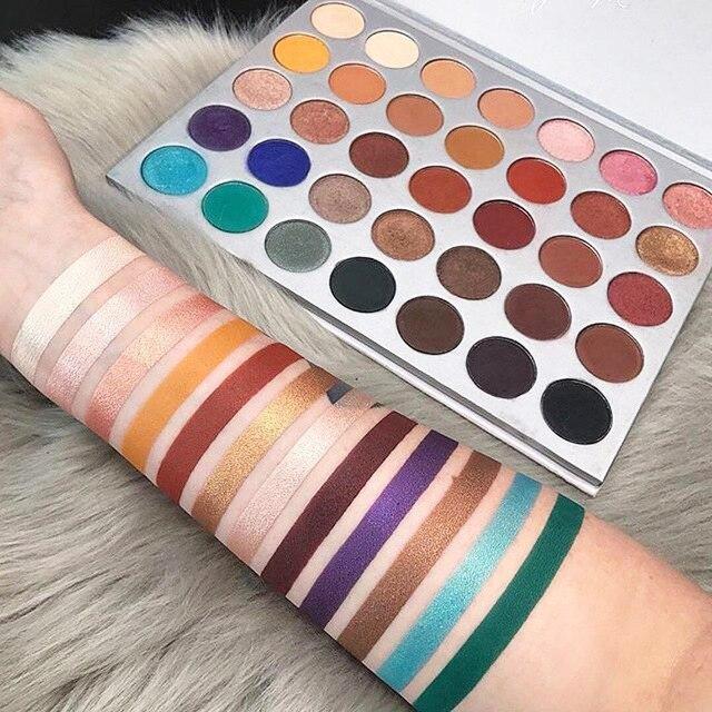 Doradosun 35 Color Eyeshadow Pallete Pearl Water-proof Hightlighters Shimmer Light Eye Shadow Long Lasting Makeup Plate 1