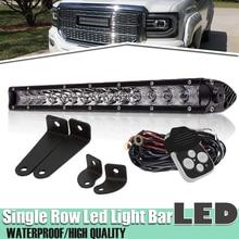 17/18 Inch Led Licht Bar Werk Combo Beam Bumper Enkele Rij 80W Voor Auto Vrachtwagen Atv Suv Off Road 4WD Dodge Ram