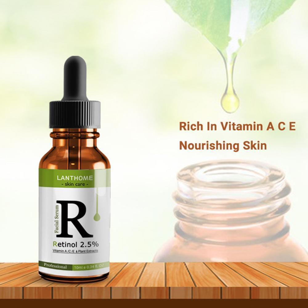 Face Facial Serum Vitamin C Retinol 2.5% Serum Firming Repair Skin Anti Wrinkle Anti Acne Anti Aging Serum Lifting Skin Care