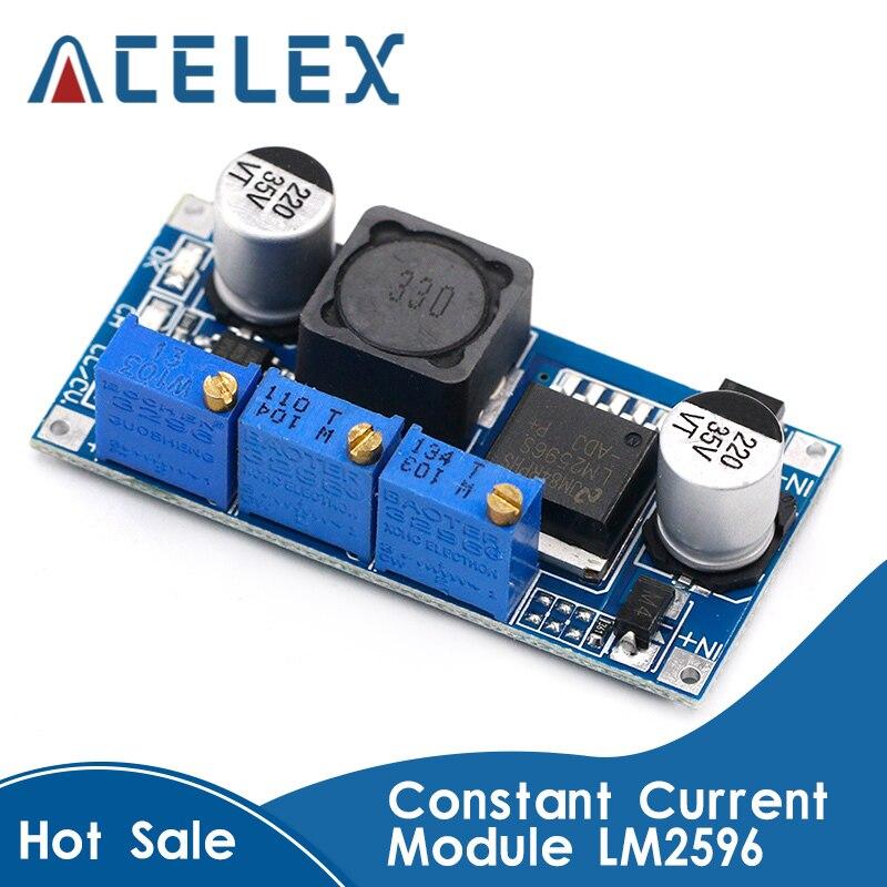 LM2596 DC-DC Step Down CC CV модуль питания светодиодный драйвер зарядное устройство для аккумулятора регулируемое LM2596S постоянный ток напряжение хоро...