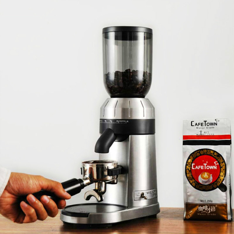Welhome ZD-15 Grinder Electric Italian Coffee Grinder Commercial Automatic Mill  Cold Brew Coffee Maker  Stainless Steel 150W
