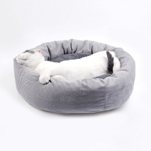 Anti-stick hair Pet Dog Bed Cat Bed House Flannel cotton Round Sleeping pet house Bed S/M/L/XL Soft Kitten Winter Pet Kennel jiahui a038 detachable cotton fabric sponge pet dog cat house kennel red white grey