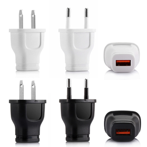 Universal Mobile Phone Charger 1A One Port Integrated Head USB Charge Converter EU/US Plug Travel Smartphone Adapter TXTB1