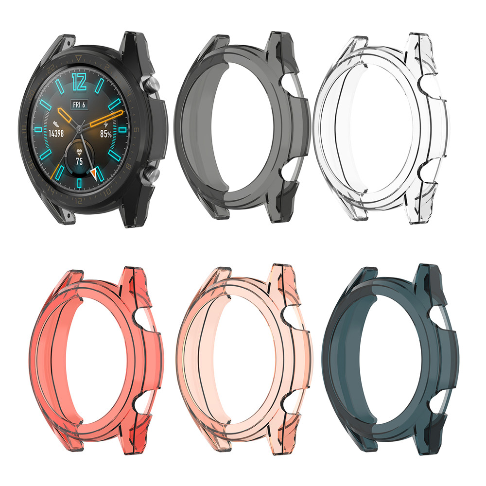 Clear Protective TPU Case Cover For Huawei Watch GT 42MM /46mm Smartwatch Sport Watch Case Slim Replacement Full Protector Frame