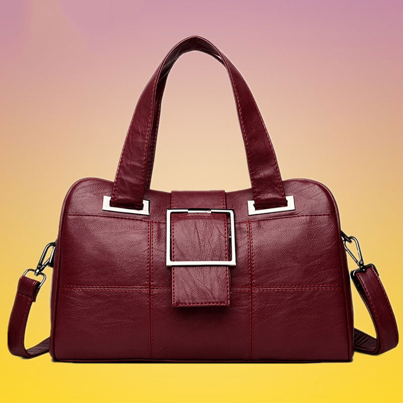 Bolsas femininas couro genuíno 2020 moda luxo bolsas de ombro para as mulheres compras preto macio