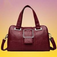 Handtassen Vrouwen Echt Lederen 2020 Mode Luxe Schoudertassen Voor Vrouwen Winkelen Zwart Zachte Vrouwen Tas