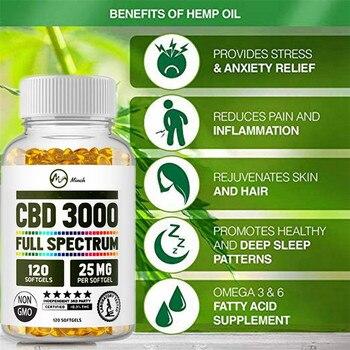Minch Hemp Oil Capsules Organic CBD Face Capsules For Pain Relief Relaxation Pressure Sleep Better Improve Skin Hemp Serum 1