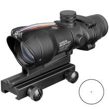 Acog 1x32 Tactical Red Dot Sight Real Green Fiber Optic Riflescope With Picatinny Rail For M16 Rifle Hunting Scope