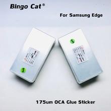 50 adet 175um OCA tutkal filmi optik temizle yapıştırıcı Samsung Galaxy S8 S9 S10 S20 not 10 artı not 20 Ultra dış cam yerine
