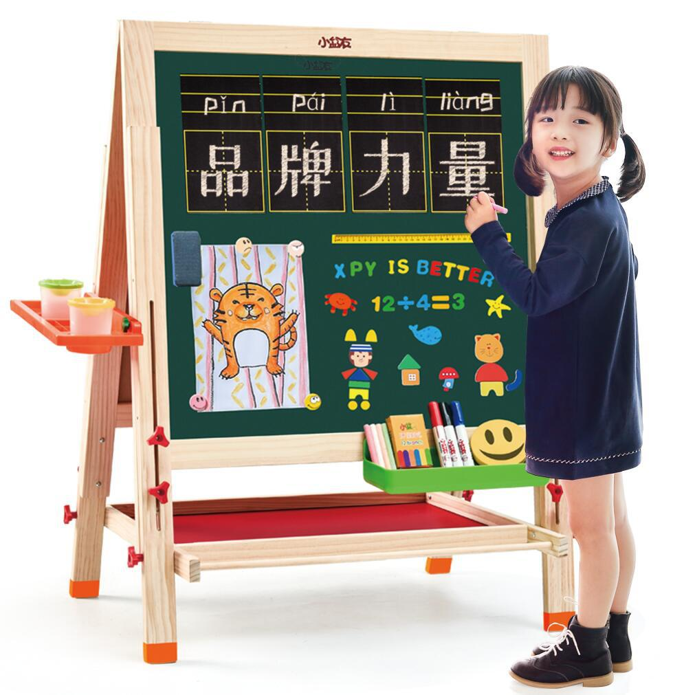 Large Size Sketchpad Children Wooden Magnetic Drawing Board Double-Sided Adjustable Children WordPad A Generation Of Fat