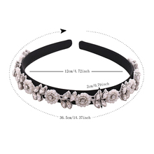 TRiXY S101-FG New Hair Accessories Baroque Jeweled Pearl Hairband Crystal Rhinestone Wedding Head Band Flower Bridal Headpieces