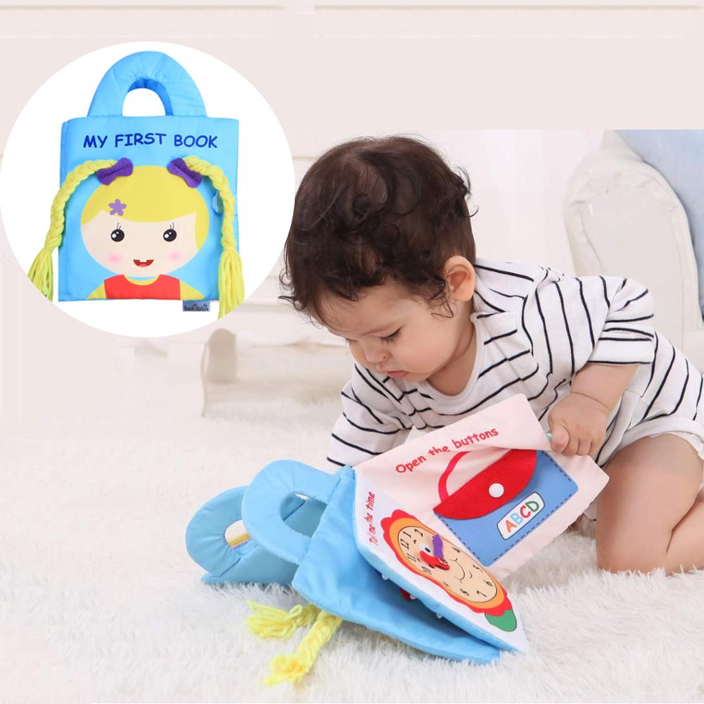 Baby Cloth Book Practice Hand Infant Early Cognitive Development Quiet Books Soft Lovely Washable Parent-Child Interaction Book
