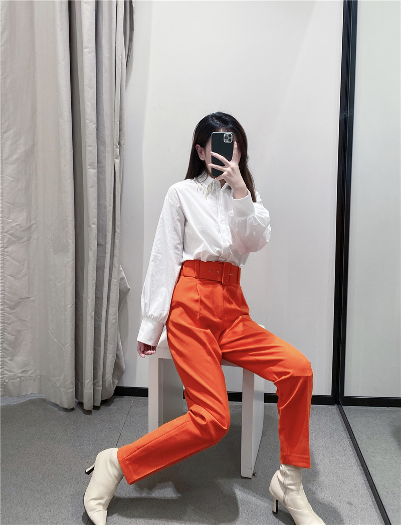 H919dba3dd86149fe87a86d75e5469ac1q - Office Lady Black Suit Pants With Belt Women High Waist Solid Long Trousers Fashion Pockets Pantalones FICUSRONG Pencil