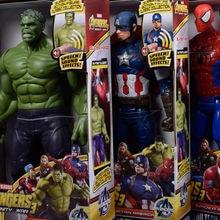 30cm Marvel Avengers Movie Anime Super Heros Captain America Ironman Spiderman Hulk Thor Superhero Action Figure Toys new marvel exclusive ironman hulk loki nick fury action figure 8 pack the avengers 3 75 collection