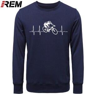 Image 3 - Venda quente moda cyclings batimento cardíaco padrão unissex hoodies, camisolas