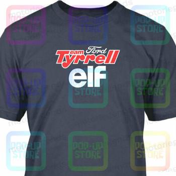 Motorlegends™Drużyna Tyrrell Elf historyczna koszulka wyścigowa F1 Streetwear rozmiar S-3Xl tanie i dobre opinie CASUAL SHORT CN (pochodzenie) COTTON Cztery pory roku Na co dzień Z okrągłym kołnierzykiem Regular Sukno Drukuj