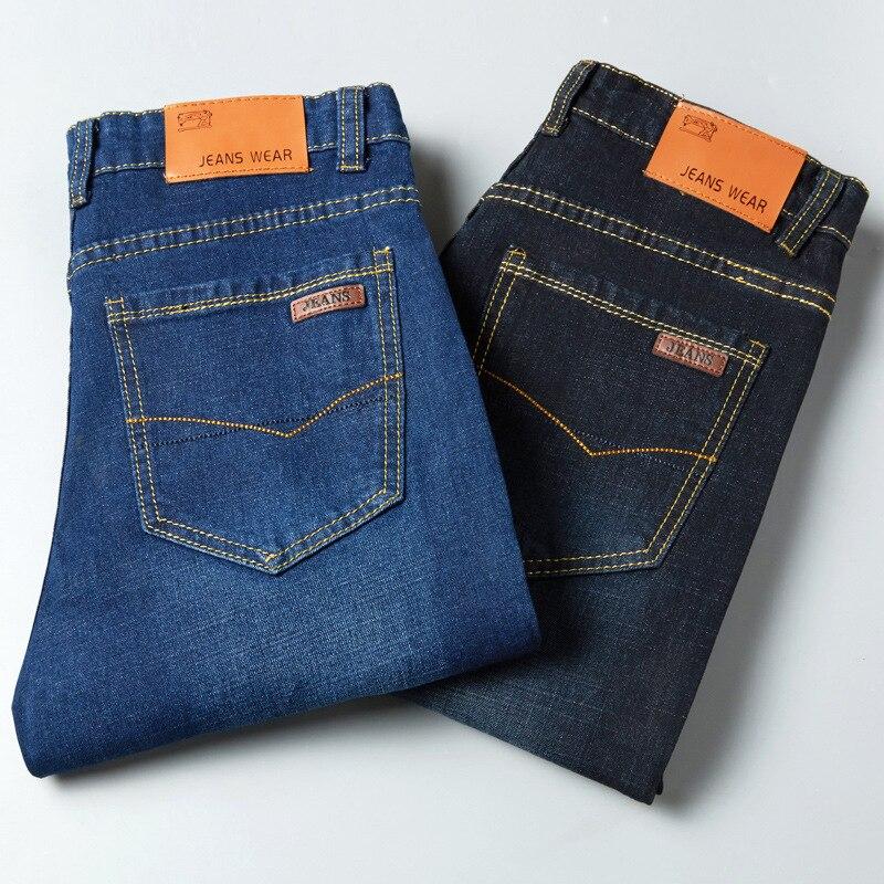 Hot Selling Jeans Men's Elasticity Slim Fit Comfortable Low Price Four Seasons Paragraph Trousers Men's Slim Fit Pencil Pants Cl
