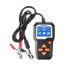 Kw650 auto motocicleta batterytester 12v 6v bateria sistema analisador 2000cca carregamento ferramentas de teste de manivela para o carro