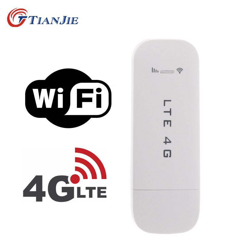 TIANJIE 4G USB Wifi Modem Network Dongle Universal Unlocked 4G Lte Usb Modem Wifi 4G Network Adaptor Stick With Sim Card Slot