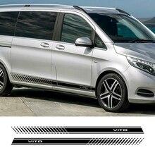 2 stücke Auto Seiten Streifen Aufkleber Für Mercedes Benz Vito V Klasse W447 V260 Vinyl Auto Stilvolle Grafiken Aufkleber Styling auto Zubehör