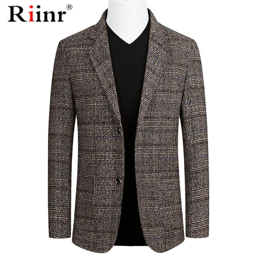 Riinr Brand Spring Autumn Men Blazer Fashion Slim Suit Jacket Men Business Casual Clothing High Quality Men's Suit Male M-3XL