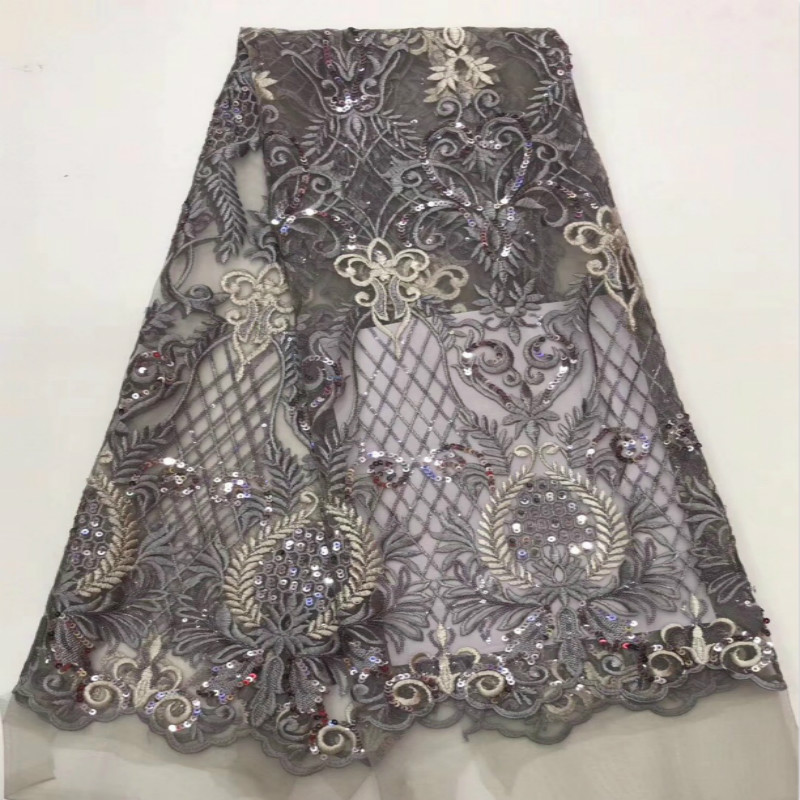 New Mesh Embroidered Fabric Pineapple Pattern Embroidery Three-dimensional Flower Wedding Lace Fabric  Dress Mesh  Lace Fabric