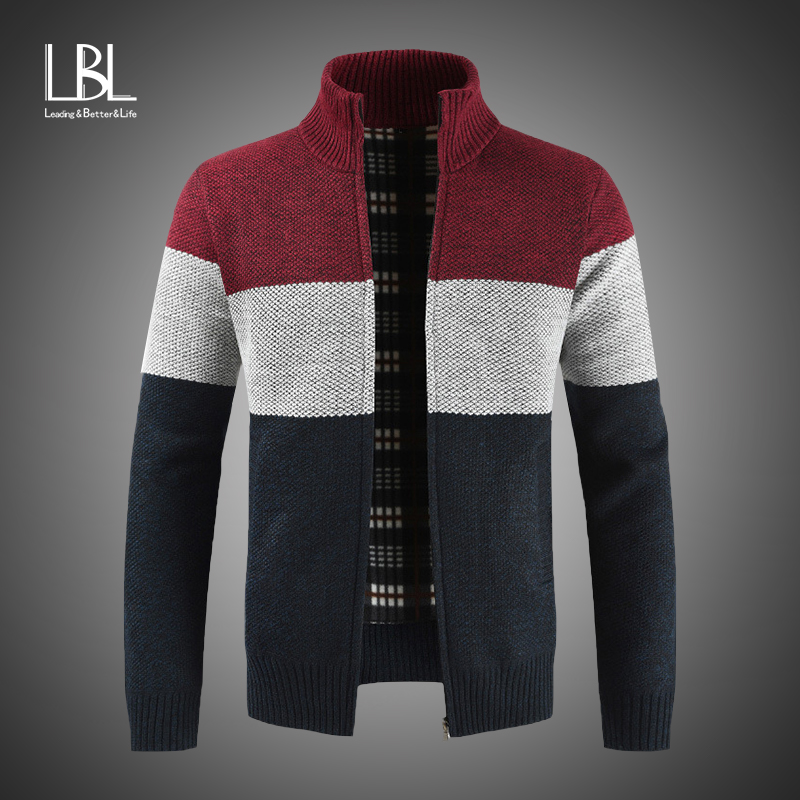 2019 New Men's Sweaters Autumn Winter Warm Cashmere Wool Zipper Cardigan Sweaters Man Casual Knitwear Sweatercoat Male Clothes