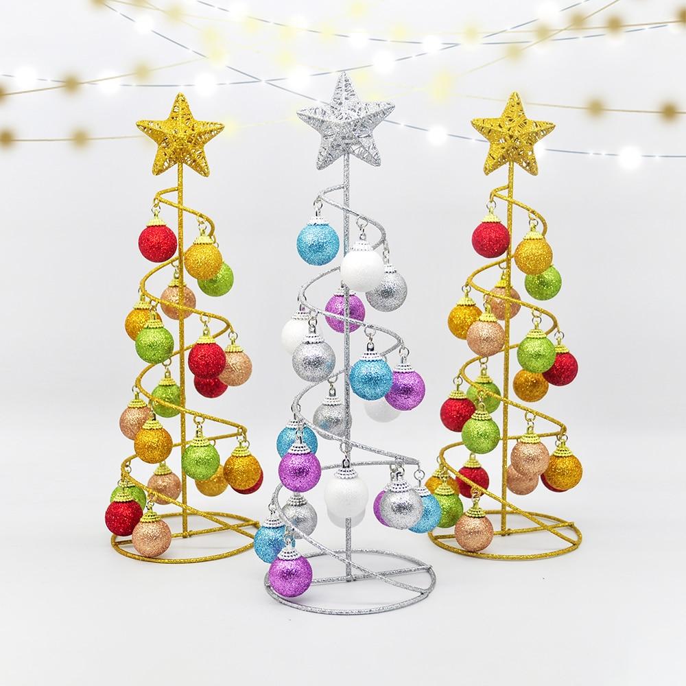 Creative Wrought Iron Christmas Tree Flash Ball Tower Tree Decoration Fake Tree Family Wedding Christmas Child New Year Gift