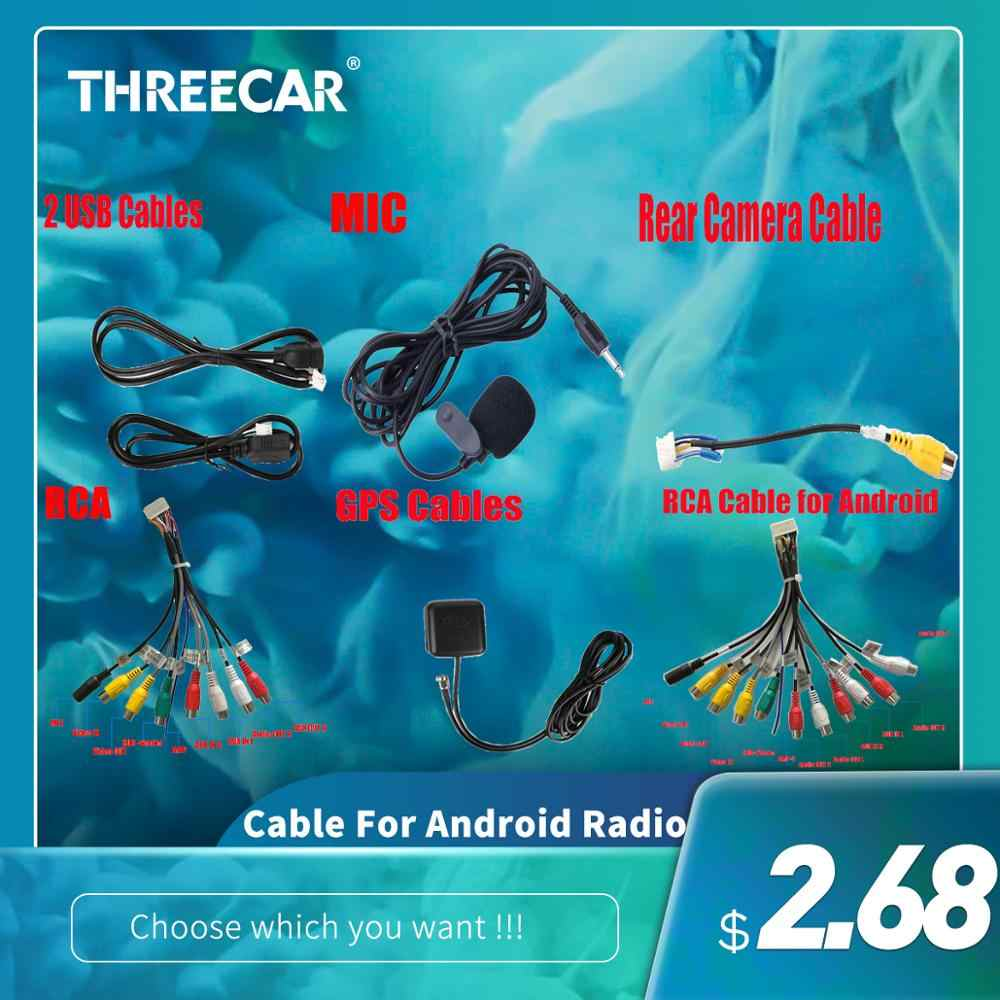 Rca Kabel/Usb Kabel/Gps Kabel Voor Android Radio 3.5Mm Jack Plug Mic Stereo Mini Wired Externe microfoon Voor Auto MP5 Dvd Radio