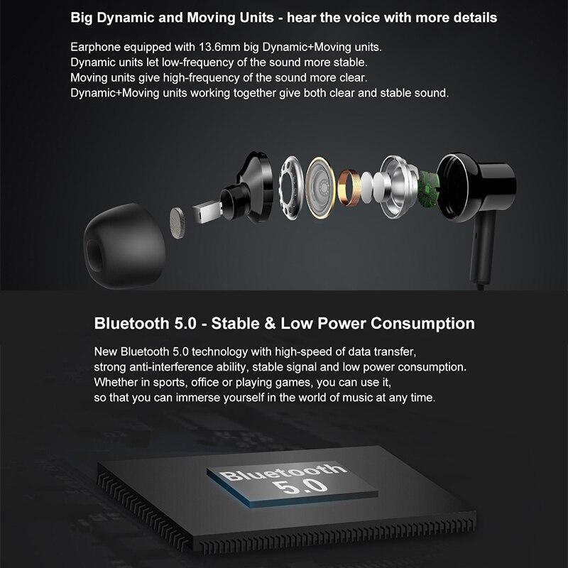 Xiaomi auriculares inalámbricos con banda para el cuello con cancelación de ruido V5.0 auriculares deportivos Bluetooth con micrófono - 4