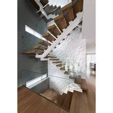 Горячая Распродажа, дизайн стеклянных перил Нью-Йорк, u-образная моно стальная балочная лестница