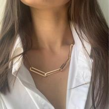 2019 F/W TREND NEW ARRIVAL CHIC GOLD COLOR PLATING BIG LINK WIDE CHAIN NECKLACE FOR UNISEX UNIQUE BOHO STYLISH