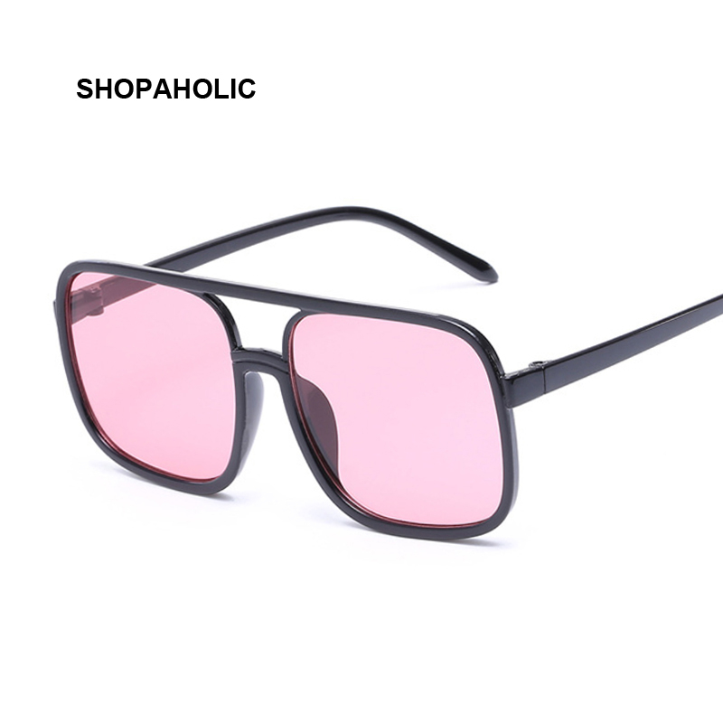 Black Square Oversized Sunglasses Women Big Frame Pink Sun Glasses Female Mirror Oculos Unisex Gradient Hip Hop Shades
