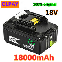 Original For Makita 18V 18000mAh 18.0Ah Rechargeable Power Tools Battery with LED Li-ion Replacement LXT BL1860B BL1860 BL1850