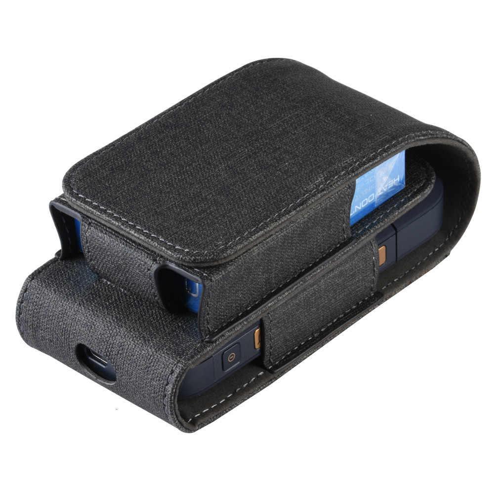 Odwróć PU skórzana torba dla IQOS dla IQOS 2.4 Plus uniwersalny pokrowiec czarny niebieski kolorowy futerał