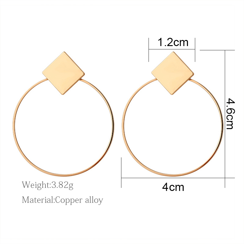 H919f111049d44aecb340ad6ba30141ccW - Hot Women Earrings Gold Drop Earrings For Women Statement Big Geometric Hanging Dangle Earring Brincos Vintage Jewelry