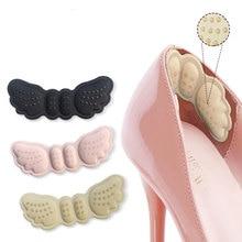 Стельки для пятки с бабочкой, 2 шт., наклейки для обуви на пятки, длина обуви, накладки на пятку, уход за ногами, защита от истирания, удерживающие тепло, накладки на пятку