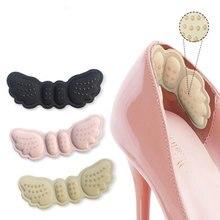 2 uds. Plantillas de tacón de mariposa, calcomanías de zapatos de tacón, longitud del zapato, almohadilla para pie, cuidado, antiabrasión, mantener al descubierto las almohadillas de talón