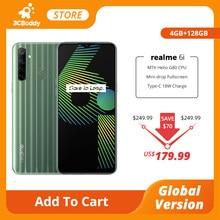 Realme 6i 4gb ram 128gb rom telefone móvel helio g80 octa núcleo versão global 5000mah bateria 48mp ai quad camera 6.5 display display exibição