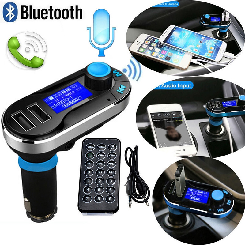 Bluetooth Car FM Transmitter Wireless MP3 Player Radio Player 2-USB Player